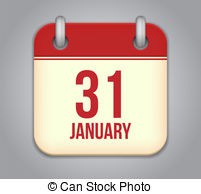 January 31 calendar clipart jpg library Calendar january 31 Clipart and Stock Illustrations. 76 Calendar ... jpg library