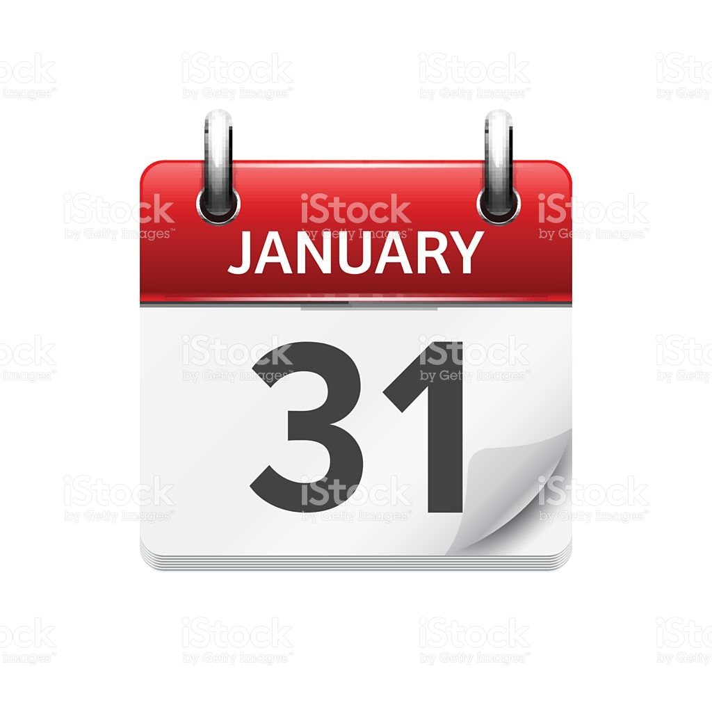 January 31 calendar clipart clip transparent January 31 Vector Flat Daily Calendar Icon Date And Time stock ... clip transparent
