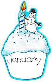 January birthday cake clip art image freeuse Free clipart january birthday - ClipartFest image freeuse
