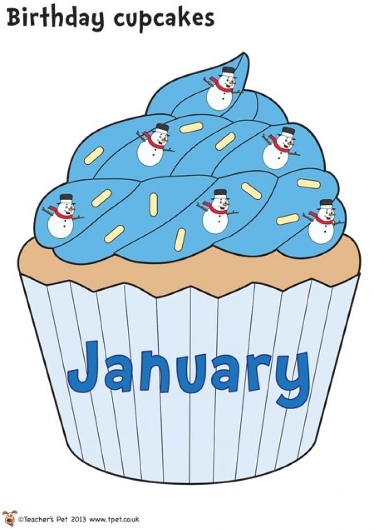 January cupcake clipart jpg royalty free download january birthday clipart for birthday board | www.thelockinmovie.com jpg royalty free download