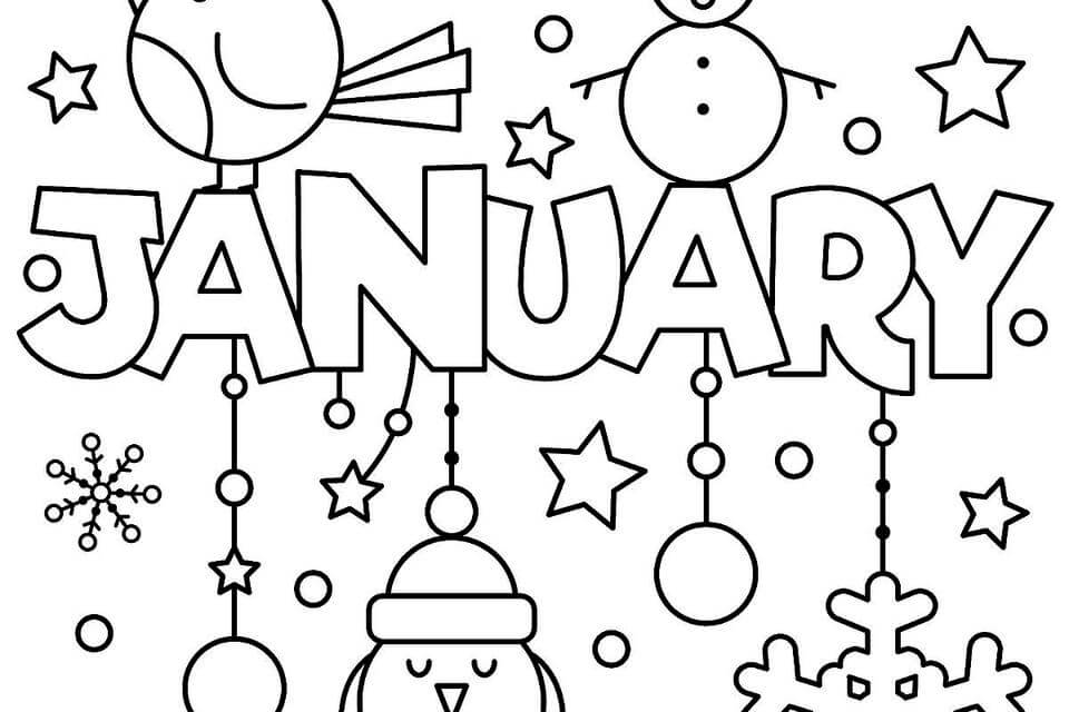 January black and white clipart jpg stock January Clipart 2019 - Clipart Junction jpg stock