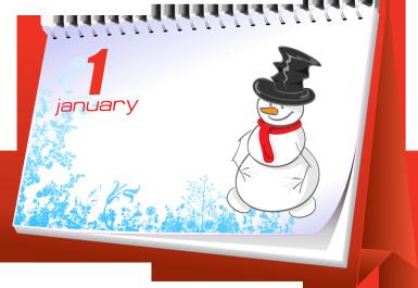 January calendar clip art vector royalty free January holidays calendar clipart - ClipartFest vector royalty free
