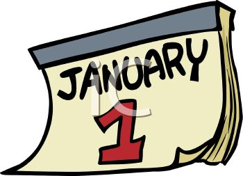 January calendar clip art picture library Date-January 1 Calendar Page - Royalty Free Clip Art Illustration picture library