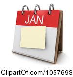 January calendar clipart png transparent Royalty-Free CGI Clip Art Illustration of a 3d January Calendar ... png transparent