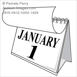 January calendar clipart clip freeuse library Clip Art Illustration of January First on a Calendar - Acclaim ... clip freeuse library