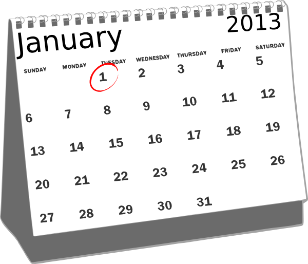 Clipart of a month of a calendar png transparent stock January Calendar Clipart - Clipart Kid png transparent stock