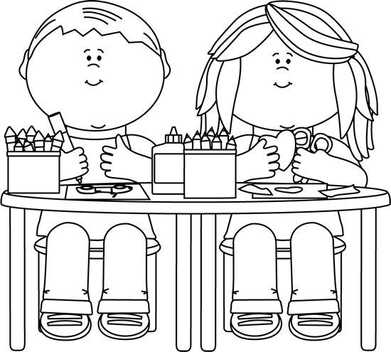 January clipart black and white nursery banner royalty free download Kids learning | daily 5 | Clipart black, white, School clipart ... banner royalty free download