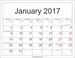 January holidays calendar clipart png transparent stock January 2017 Calendar Clipart png transparent stock