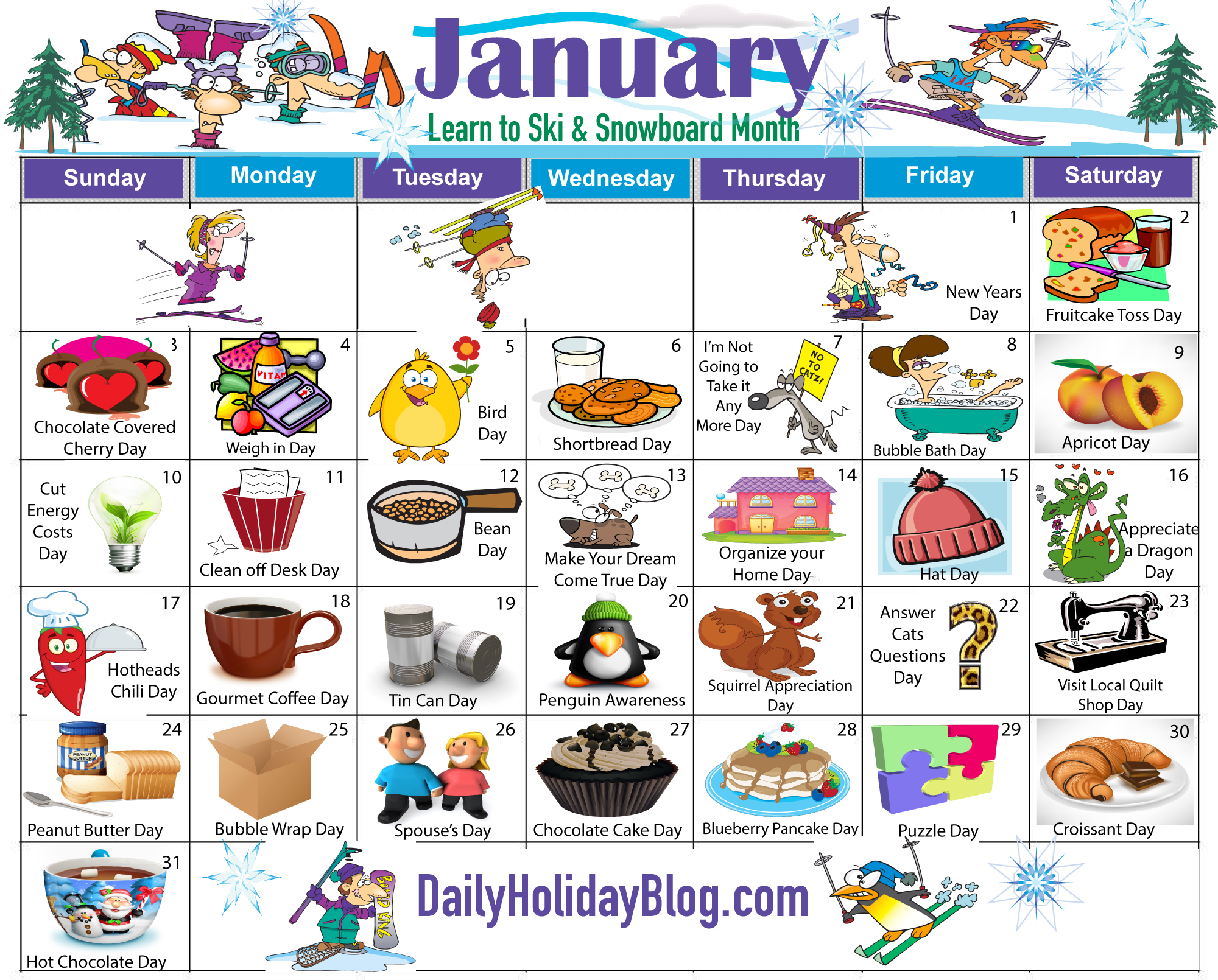 January holidays calendar clipart svg black and white library 1000+ images about Calendar - January on Pinterest | Clip art ... svg black and white library