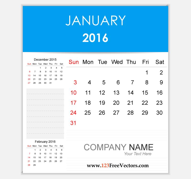 January holidays calendar clipart jpg freeuse download Editable Calendar January 2016 by 123freevectors on DeviantArt jpg freeuse download