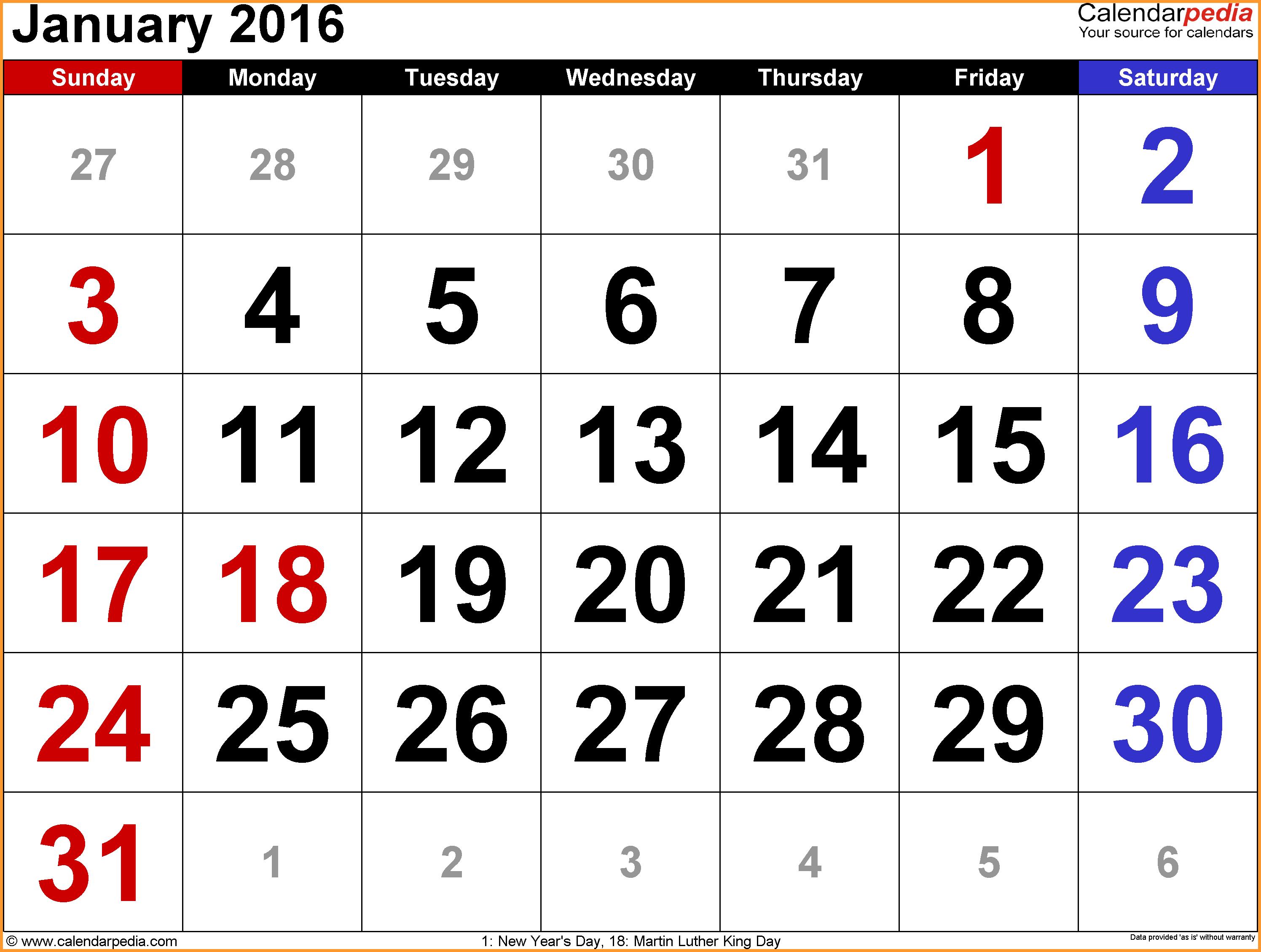January holidays calendar clipart banner library download JANUARY 2016 CALENDAR WITH HOLIDAYS | letter format mail banner library download