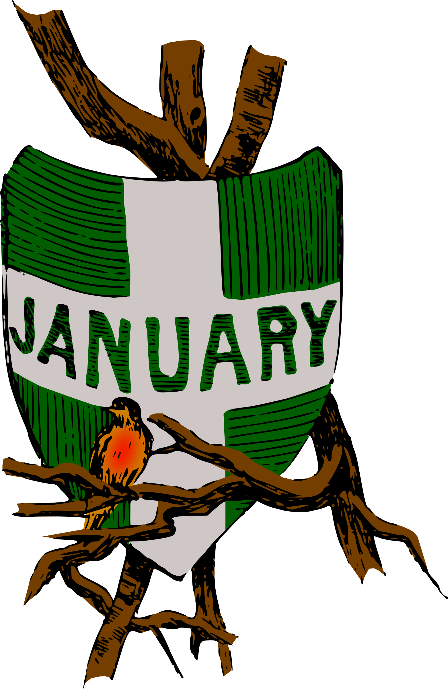 Month of january clipart jpg free download Clipart - Illustrated months (January, colour) jpg free download
