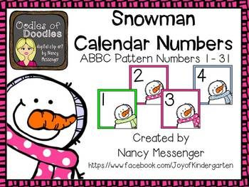 January snowman calendar clipart clipart download 17 Best images about Circle Time--Calendar Time on Pinterest ... clipart download