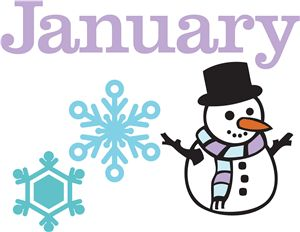 January snowman calendar clipart picture royalty free download 1000+ images about Clip Art for Work on Pinterest | December ... picture royalty free download