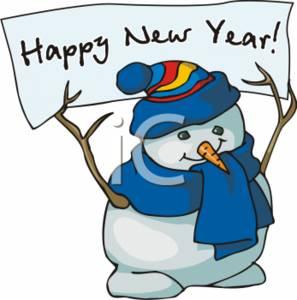 January snowman calendar clipart
