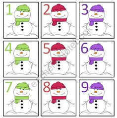 January snowman calendar clipart transparent library Joy of Kindergarten: Free Snowman Calendar Numbers, January ... transparent library