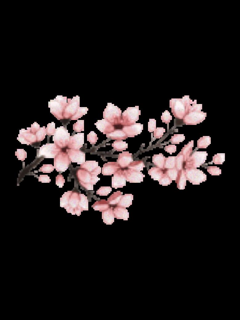 flower pink sakura japan pixel - Sticker by Mafer jpg library library