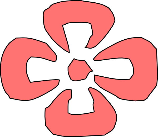 Japanese Decorative Red Flower Clip Art at Clker.com - vector clip ... clip freeuse library