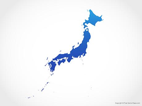 Japan map clipart clip art freeuse download Vector Maps of Japan | Free Vector Maps clip art freeuse download