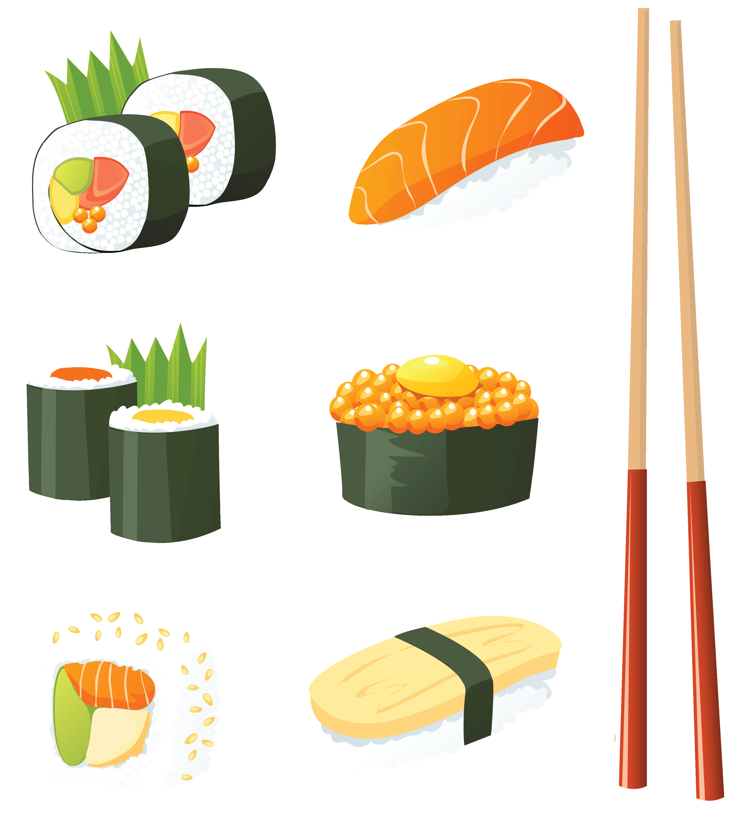 Japan sushi clipart clipart stock Japanese Sushi PNG Vector Clipart   Gallery Yopriceville - High ... clipart stock