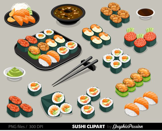 Japan sushi clipart banner royalty free stock Sushi Set Clipart Food clipart Japan food clipart Sushi Clipart ... banner royalty free stock