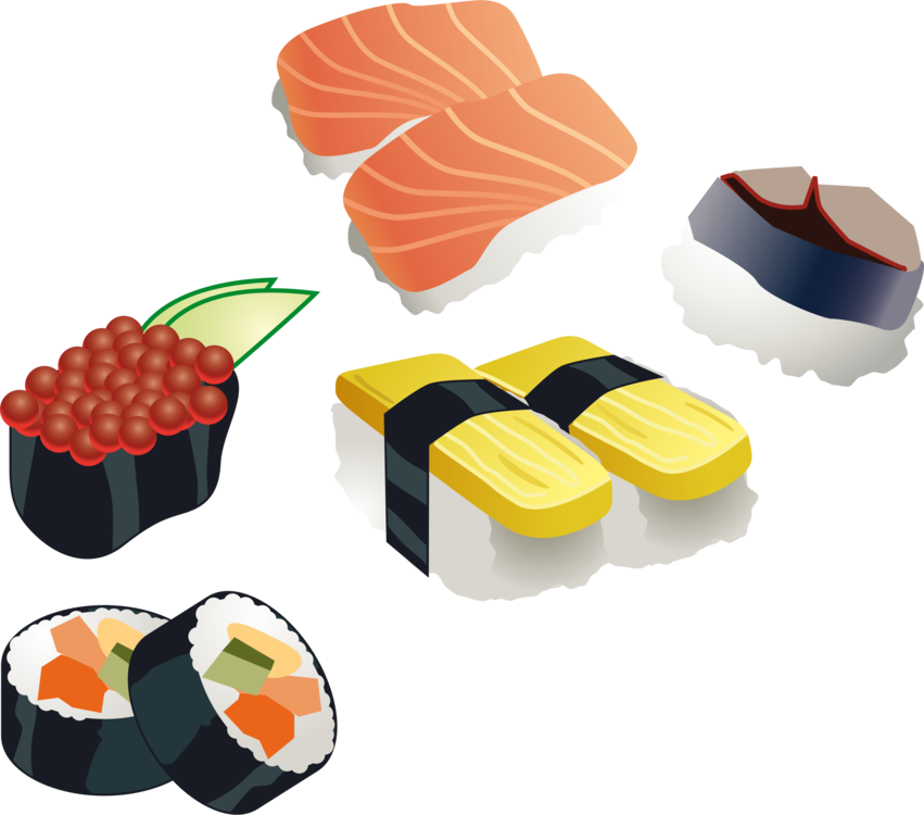 Japan sushi clipart picture royalty free stock Cuisine,Food,Sushi Vector Clipart - Free to modify, share, and use ... picture royalty free stock