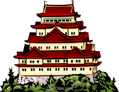 Japanese temple clipart png royalty free Japanese temple Royalty Free Vector Clip Art illustration -arch0200 ... png royalty free