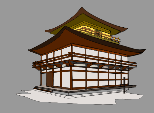 Japan traditional house clipart
