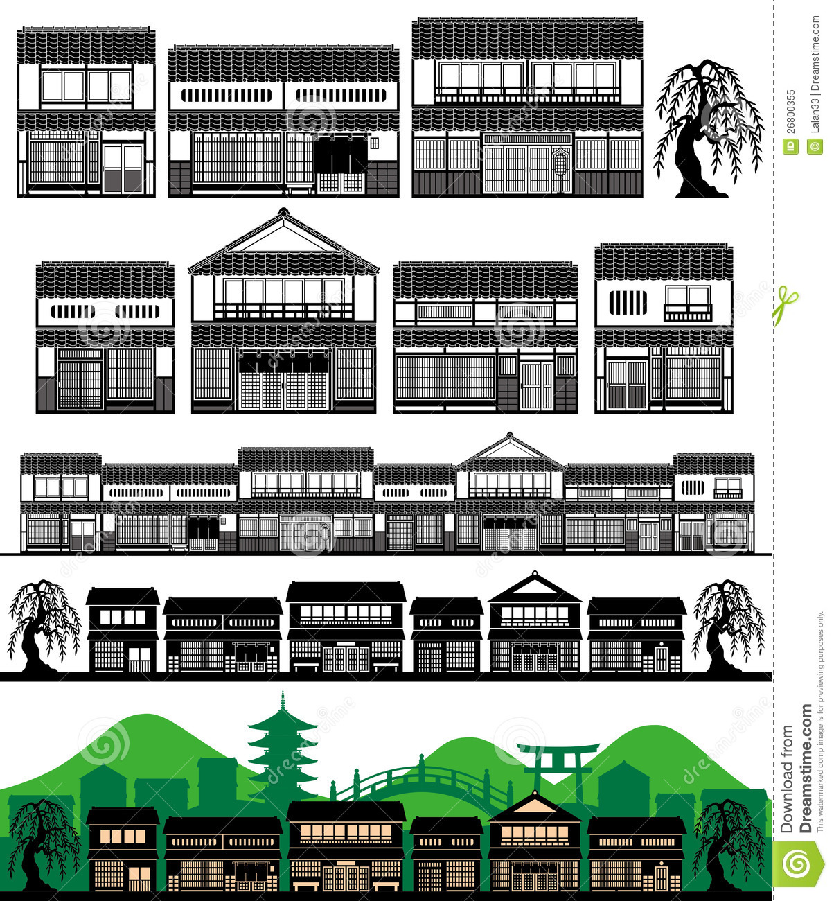 Japan traditional house clipart clip art royalty free library Japanese Traditional Houses Royalty Free Stock Photo - Image: 26800355 clip art royalty free library