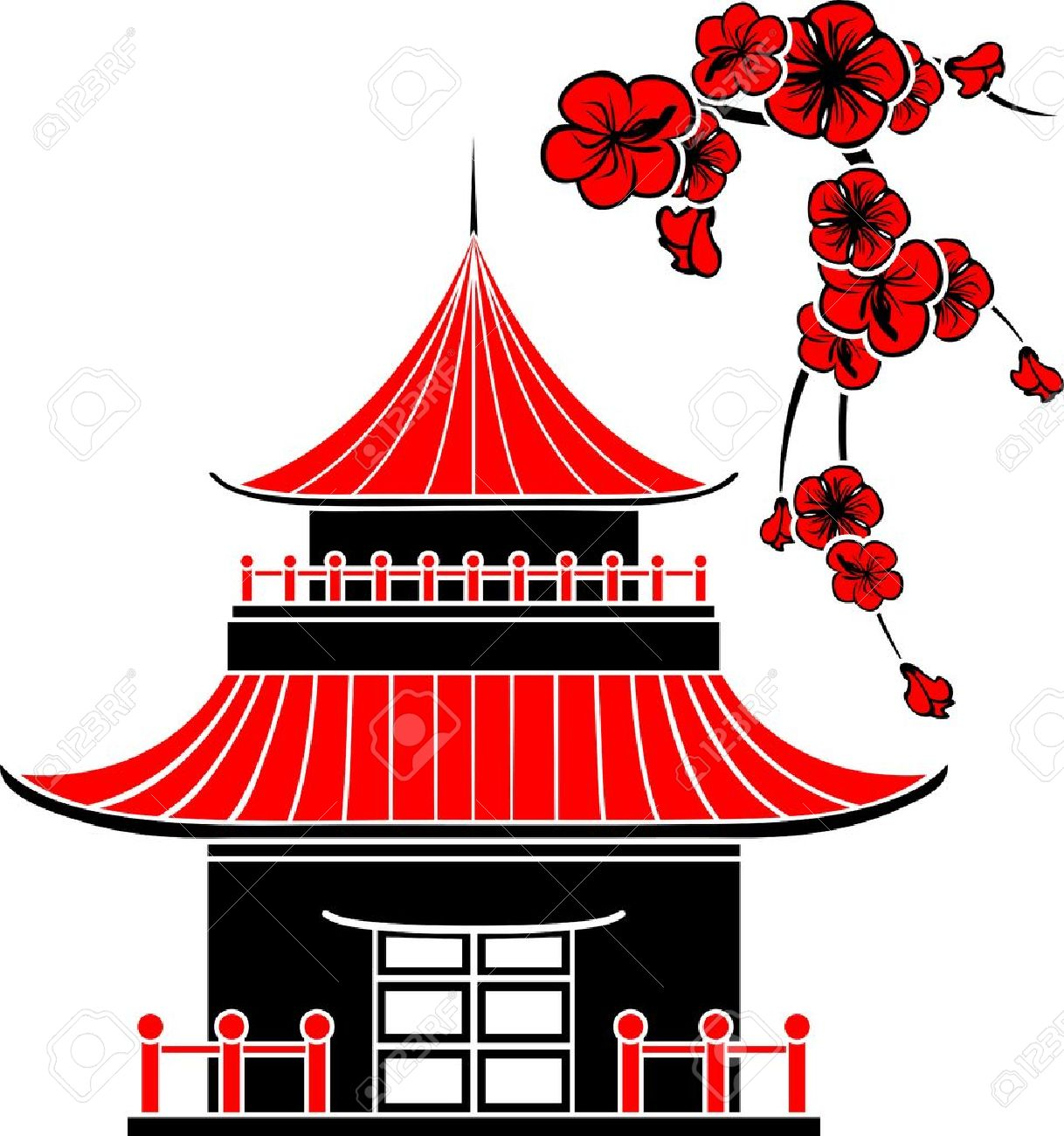 Japan traditional house clipart graphic transparent Japan traditional house clipart - ClipartFest graphic transparent