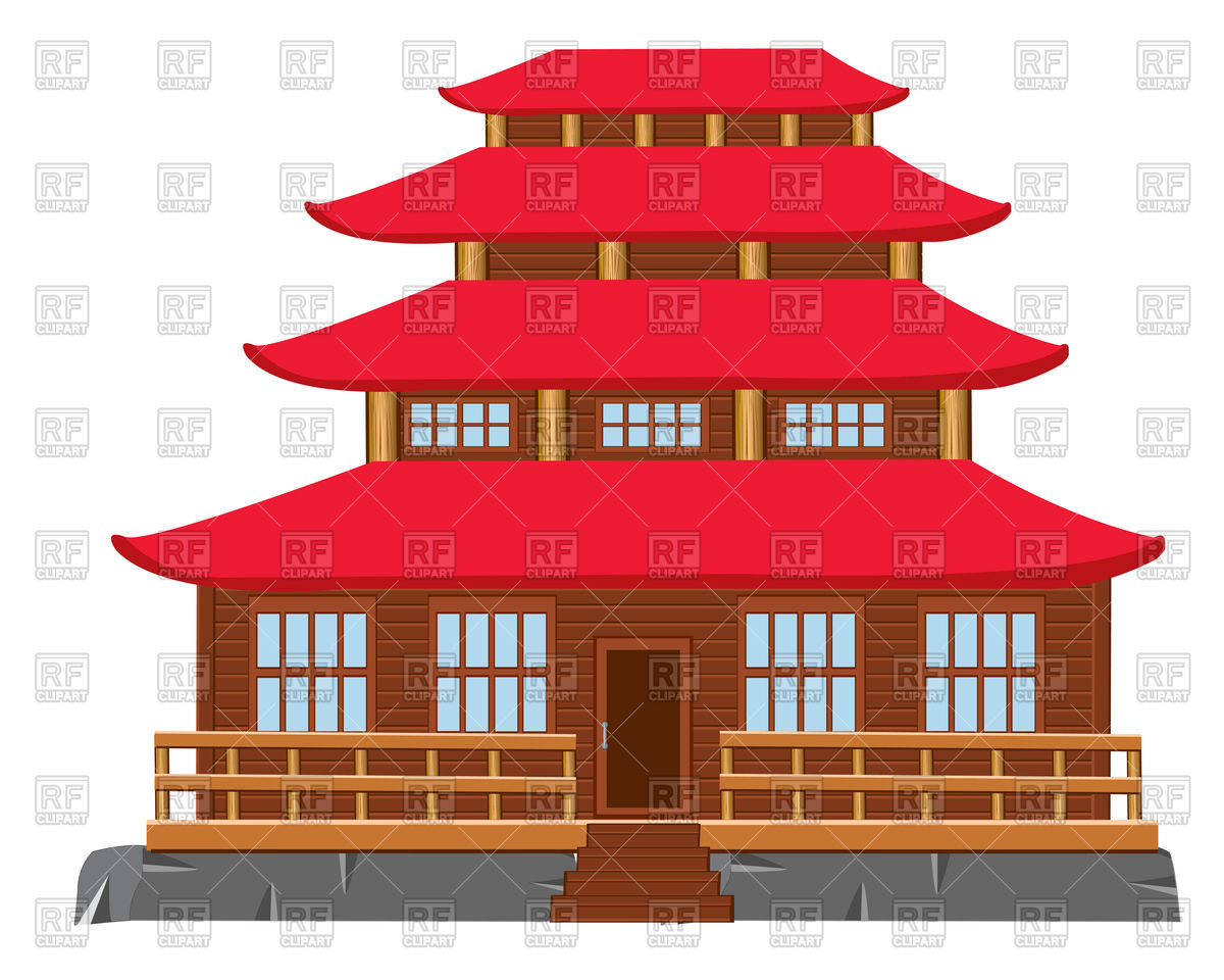 Japan traditional house clipart royalty free stock Japapense house clipart - ClipartFest royalty free stock