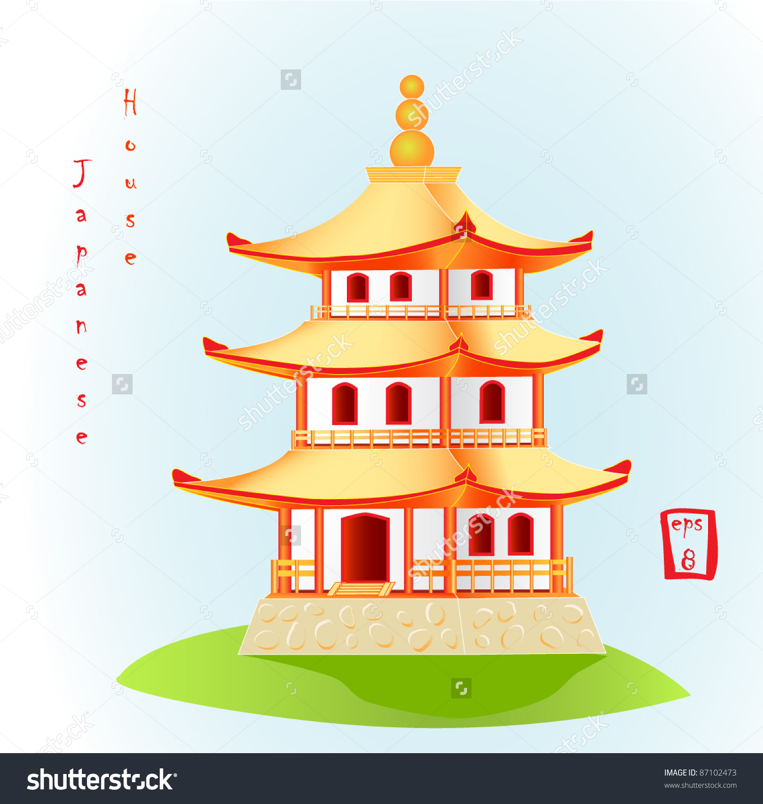Japan traditional house clipart image free stock Japanese traditional house clipart - ClipartFest image free stock