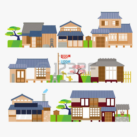 Japan traditional house clipart jpg transparent stock 4,980 Japanese House Cliparts, Stock Vector And Royalty Free ... jpg transparent stock