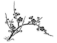 Japanese cherry blossom black and white clipart black and white stock Japanese Cherry Blossom Drawing Black And White at PaintingValley ... black and white stock