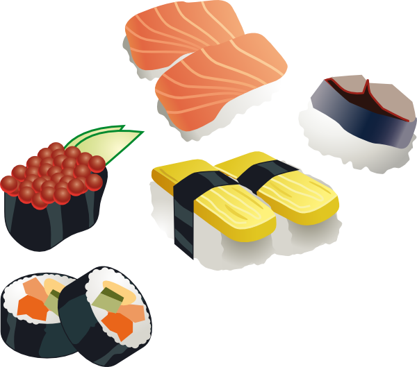 Japanese fish clipart png freeuse stock Sushi Set Clip Art at Clker.com - vector clip art online, royalty ... png freeuse stock