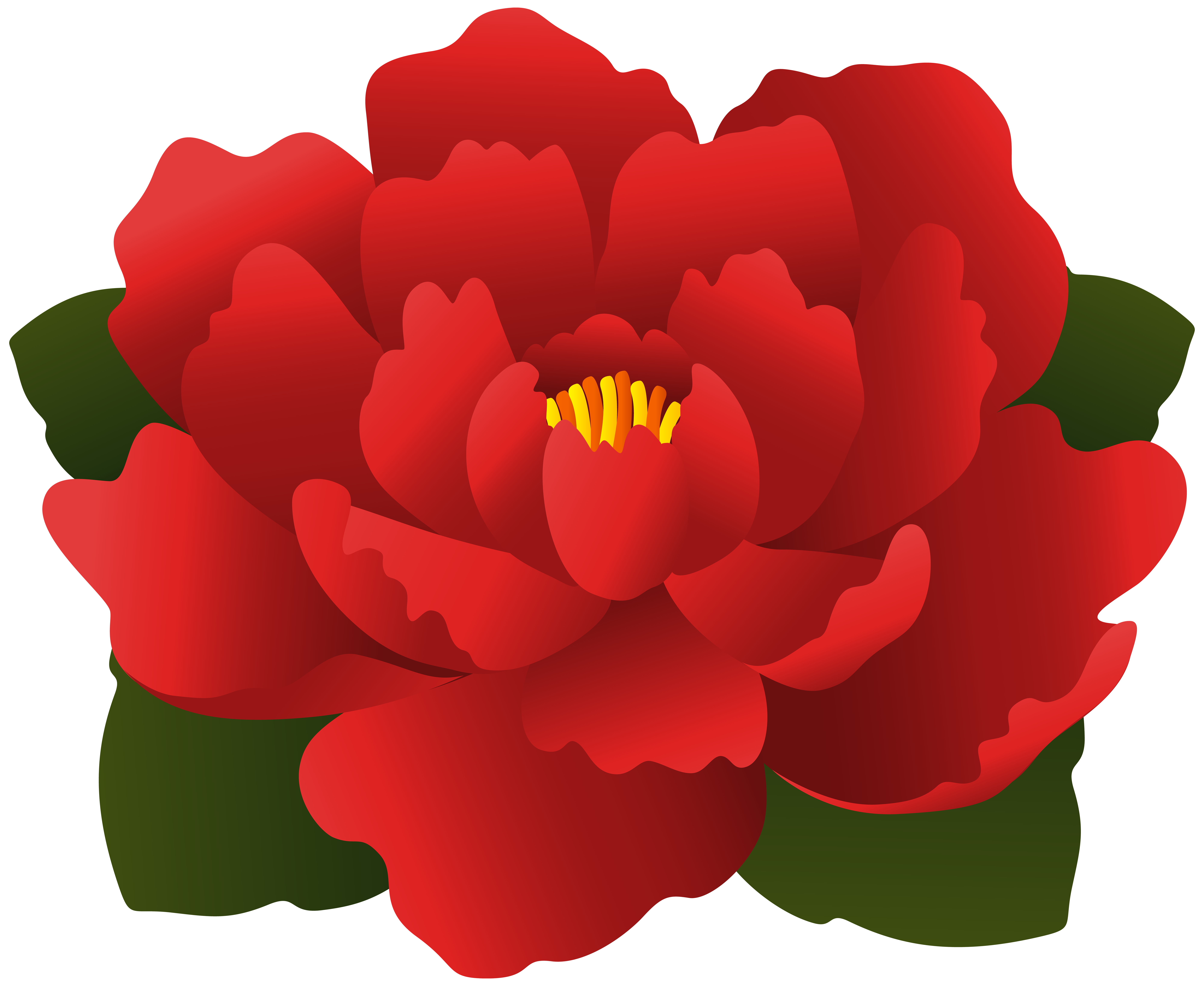 Red Flower Transparent Clip Art   Gallery Yopriceville - High ... graphic