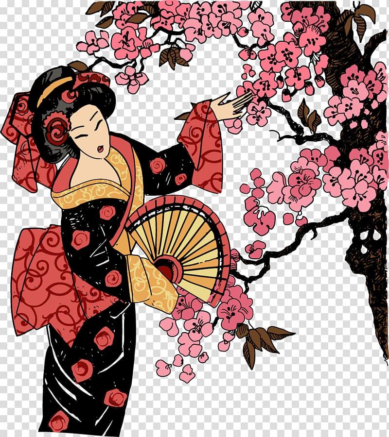 Japanese garden clipart clip library stock Geisha illustration, Japanese garden design Geisha Illustration ... clip library stock