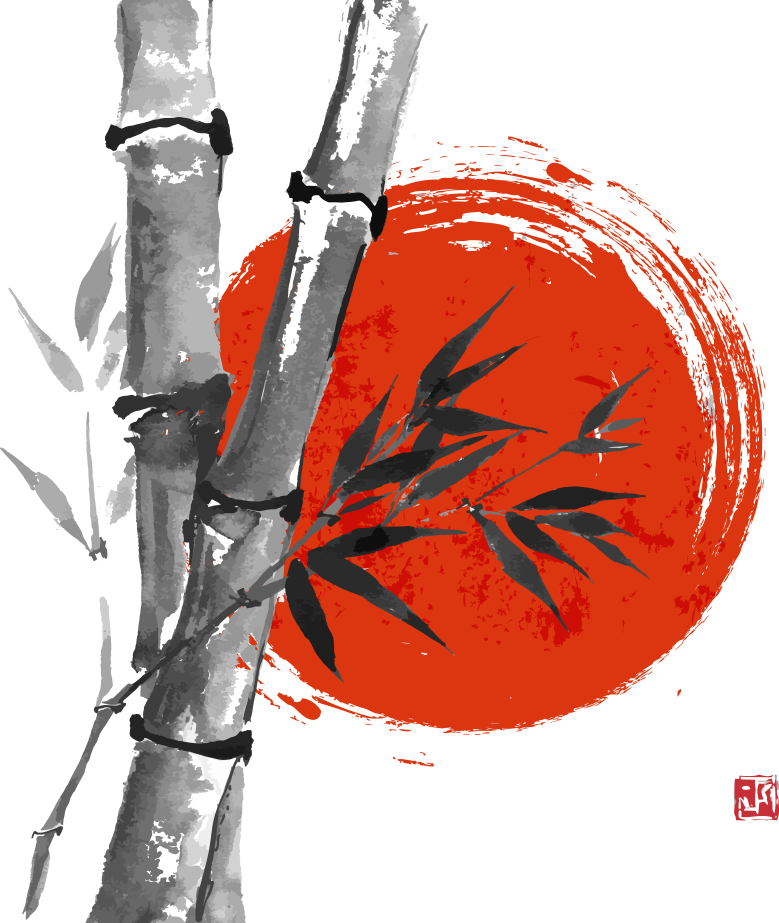 Japanese ink painting clipart vector royalty free download Download Japanese Wash Vector Ink Japan Bamboo Painting Clipart PNG ... vector royalty free download