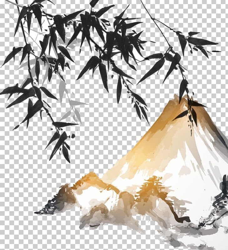 Japanese ink painting clipart png transparent Ink Wash Painting Bamboo Japanese Painting PNG, Clipart, Bamboo ... png transparent