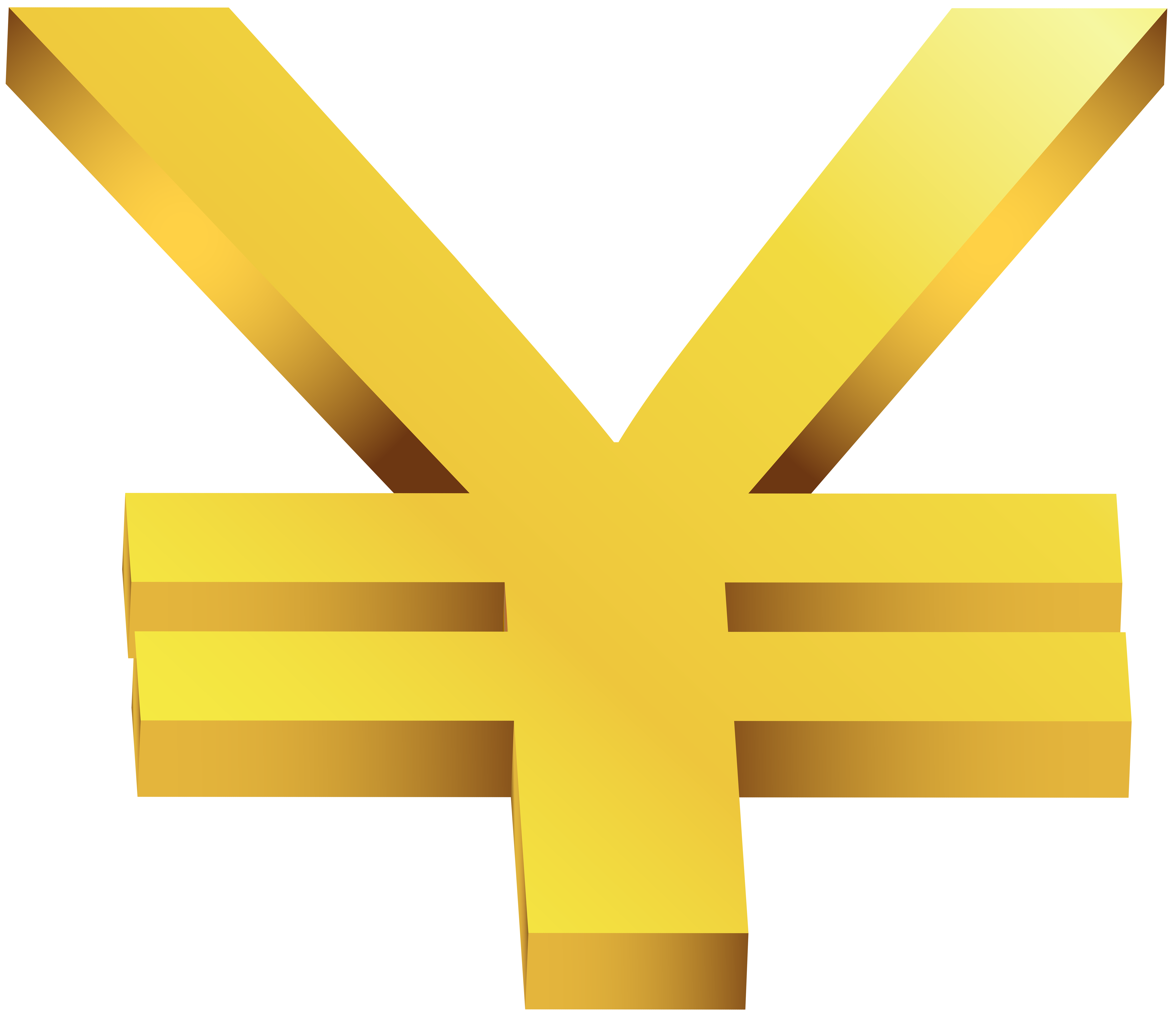Gold Japanese Yen Transparent PNG Clip Art Image | Gallery ... image free