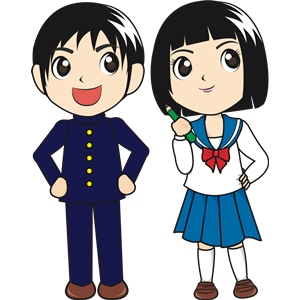 Japanese people clipart vector library download Japanese Students clipart, cliparts of Japanese Students free ... vector library download