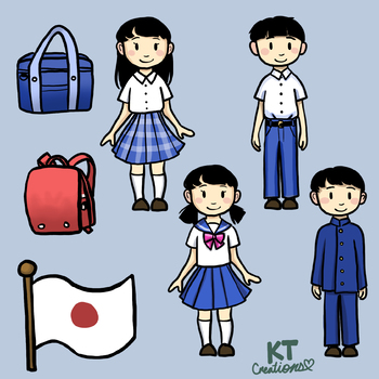 Japanese people clipart picture freeuse stock Japanese School Students Clipart picture freeuse stock