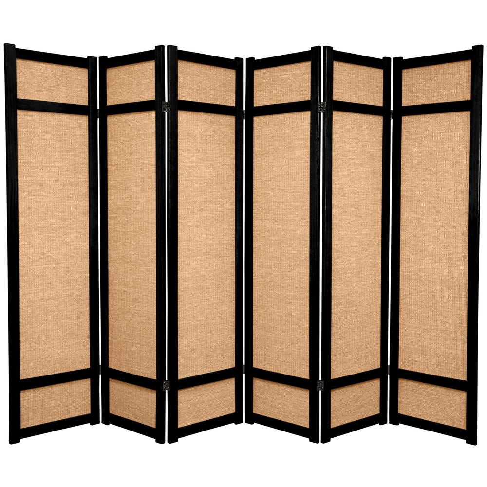 Japanese screen clipart png library download Oriental Furniture 6 ft. Black 6-Panel Room Divider-JKSHOJI-BLK-6P ... png library download