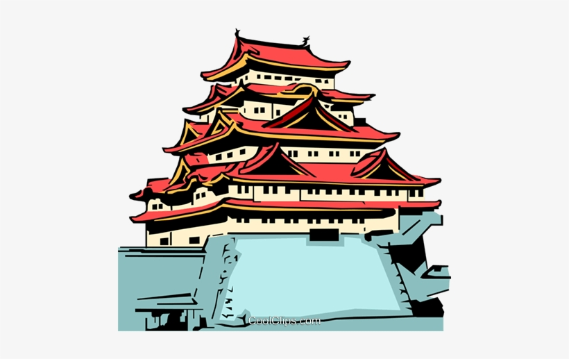 Japanese temple clipart picture free stock Japanese Temple Royalty Free Vector Clip Art Illustration - Japan ... picture free stock