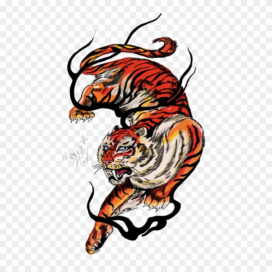 Japanese tiger clipart jpg freeuse library Tiger Tattoos Clipart Food - Tiger Tattoo Design Png Transparent Png ... jpg freeuse library