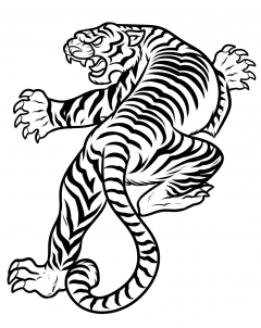 Japanese tiger clipart clip black and white how to draw a japanese tiger tattoo step 8   BODY ART   Tiger tattoo ... clip black and white