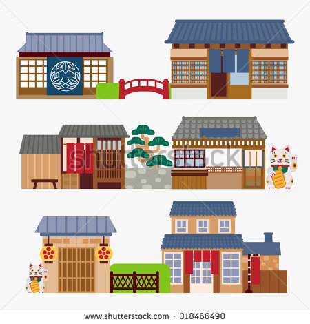 Japanese traditional house clipart svg royalty free Japanese House Stock Vectors, Images & Vector Art | Shutterstock svg royalty free