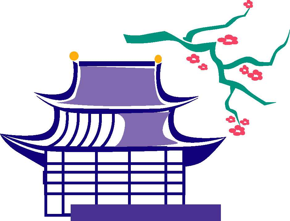 Japanese traditional house clipart jpg stock Japan traditional house clipart - ClipartFest jpg stock
