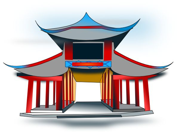 Japanese traditional house clipart transparent library 17 Best images about CIUDADES on Pinterest | Buddhists, Clip art ... transparent library