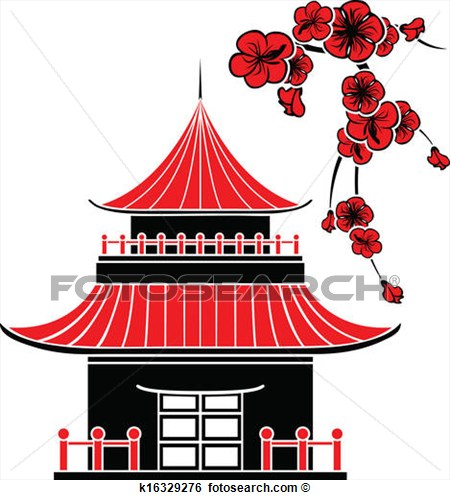 Japanese traditional house clipart png stock Japan traditional house clipart - ClipartFest png stock